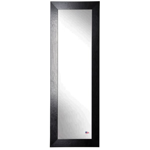 American Made Rayne Black Leather 21.5 x 60.5 Slender Body Mirror