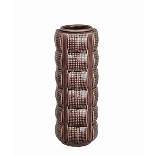 Brown Crackle Large Ceramic Vase