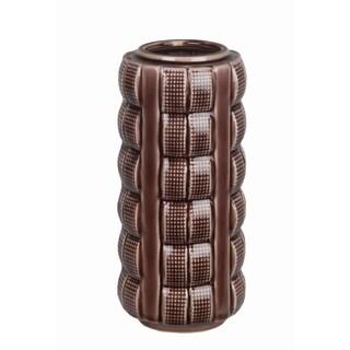 Brown Crackle Small Ceramic Vase