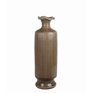 Brown/ Green Ceramic Vase