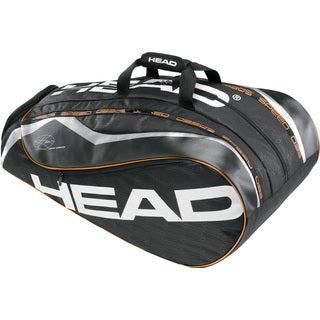 Head Novak Djokovic Monstercombi Black and Orange Tennis Bag