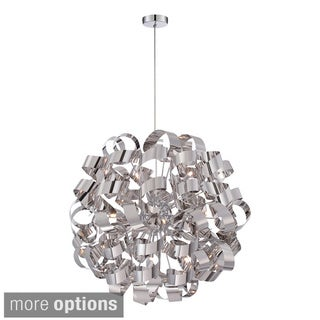 Quoizel 12-light Ribbon Curled Steel Large Pendant