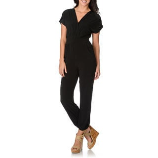 Lennie for Nina Leonard Women's Black Pocket Jumpsuit