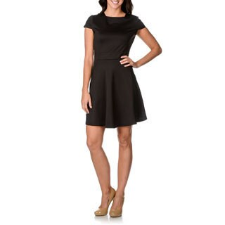 Lennie For Nina Leonard Women's Black Fit-n-flare Dress
