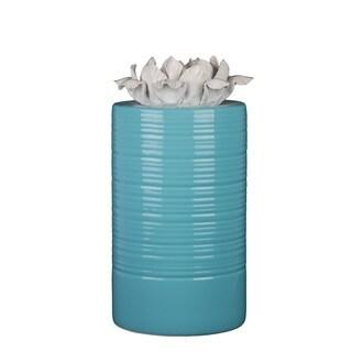 Blue/ Large White Ceramic Vase With Flower