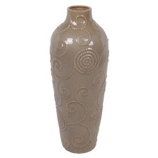 Large Scroll Ceramic Vase