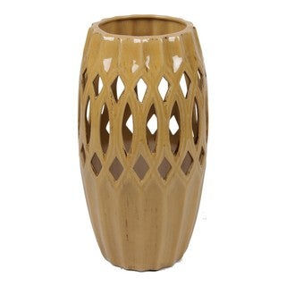 Large Pierced Ceramic Vase