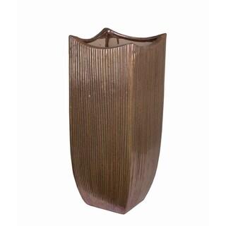 Large Copper Ceramic Vase