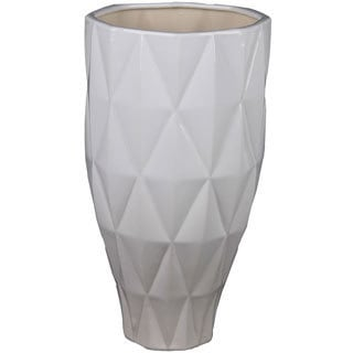 White Medium Ceramic Vase