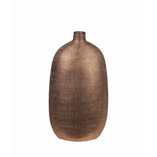 Small Textured Copper Ceramic Vase