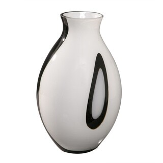 Opal Black 12-inch Glass Vase