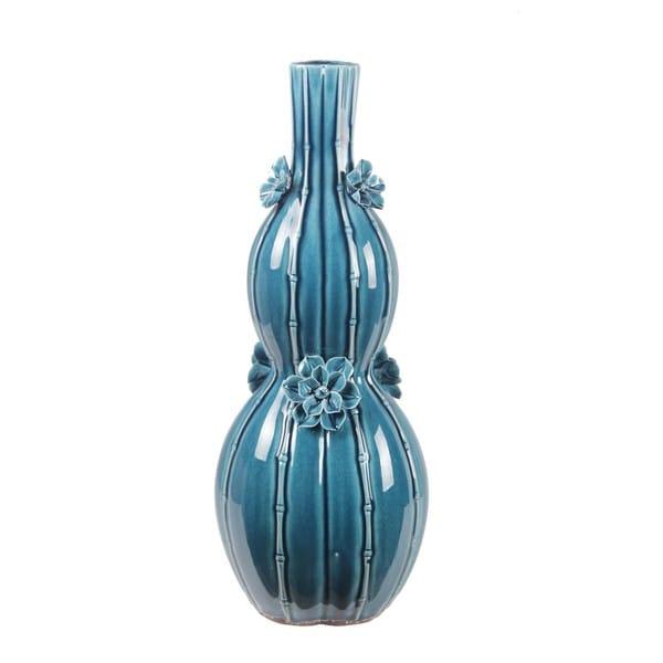 Large Classic Blue Ceramic Vase