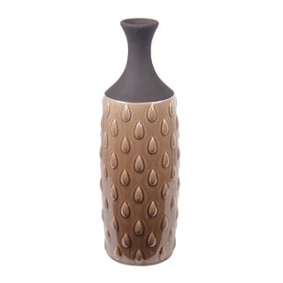 Water Drop Brown/ Blue Ceramic Vase