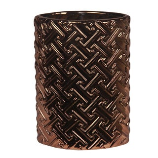 Tall Metallic Copper Ceramic Vase