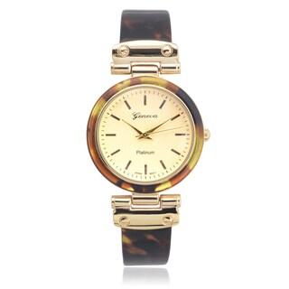 Geneva Platinum Shell Link Watch