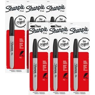 Sharpie Permanent Fine Point Black Ink Marker (Pack of 6)