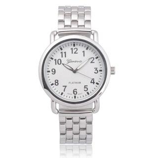 Geneva Platinum Quartz Link Watch