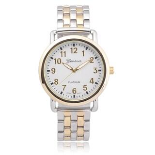 Geneva Platinum Women's Two-tone Quartz Link Watch