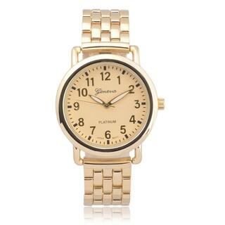 Geneva Platinum Women's Goldtone Quartz Link Watch