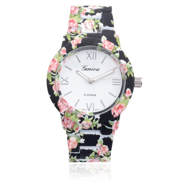 Geneva Floral Print Watches