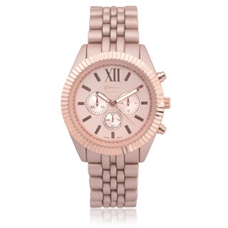 Geneva Platinum Women's Chronograph Link Watch
