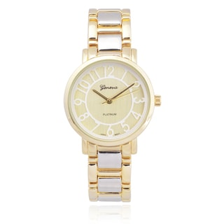 Geneva Platinum Women's Two-tone Quartz Link Watch