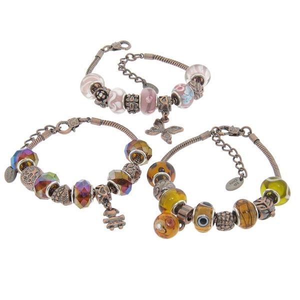 Glass Charm Bracelets Glass Charm Bracelets