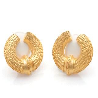 Kenneth Jay Lane Goldtone Open-end Clip-on Earrings