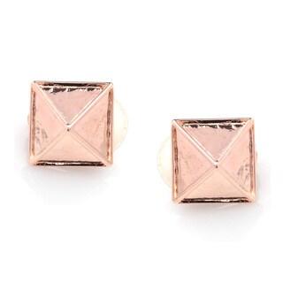 Kenneth Jay Lane Rose Goldtone Pyramid Clip-on Earrings