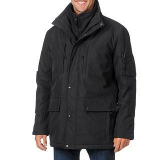 S13/NYC Men's Black Outdoor Coat with Bib
