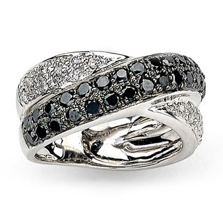 Diamonds for a Cure 14k White Gold 1 1/4ct TDW Black and White Diamond Ring (H-I, SI1-SI2)