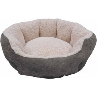 Textured 25-inch Round Microfiber Pet Bed