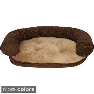 Alessandra Chenille 42-inch Oval Bolster Pet Bed