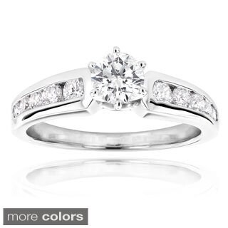 14k White Gold 1 1/10ct TDW Diamond Engagement Ring (H-I, SI1-SI2)