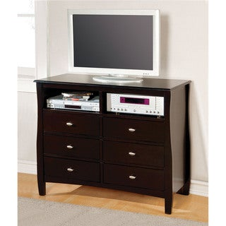 Furniture of America Beau Espresso Media Chest