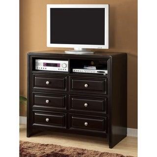 Furniture of America Belliane Espresso Media Chest