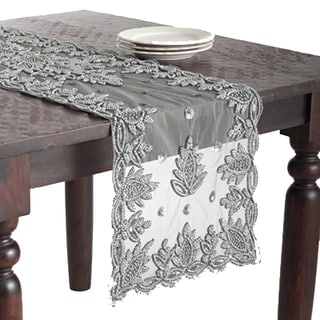 Hand Beaded Design Runner