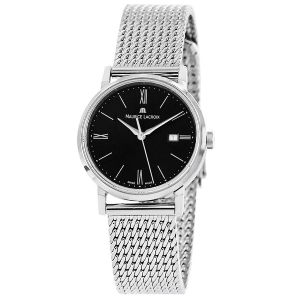 Maurice Lacroix Women's EL1084-SS002-310 'Eliros' Black Dial Stainless Steel Bracelet Quartz Watch
