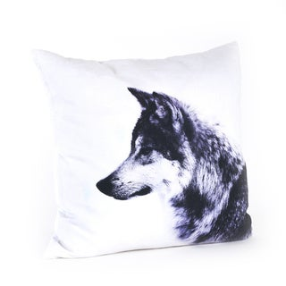 Wolf Design 20-inch Feather Filled Throw Pillow
