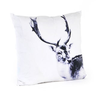 Deer Design 20-inch Feather Filled Throw Pillow