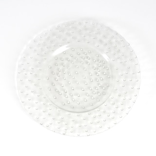 Hobnail Design Glass Charger (Set of 4)