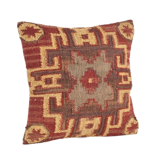Kilim Design 20-inch Down Filled Throw Pillow - 16602333 - Overstock.com Shopping - Great Deals ...