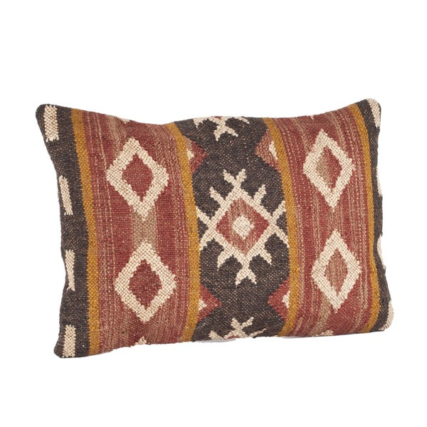 Throw Pillow Filling : Kilim Design Down Filled Throw Pillow - 16602335 - Overstock.com Shopping - Great Deals on Throw ...