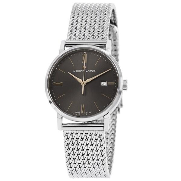 Maurice Lacroix Women's EL1084-SS002-811 'Eliros' Grey Dial Stainless Steel Bracelet Quartz Watch