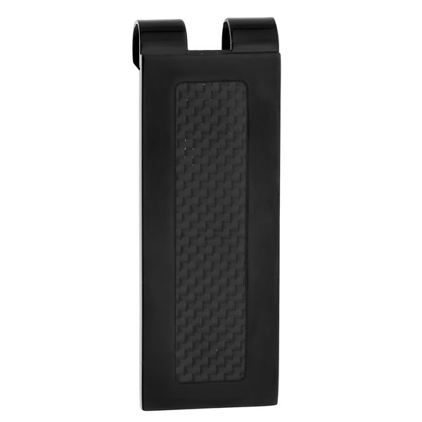 Stainless steel Black Ion-plated Money Clip with Carbon Fiber
