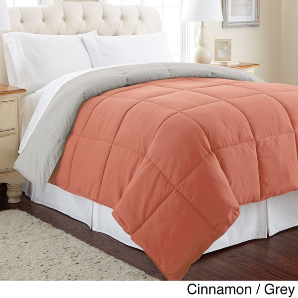 all season reversible down alternative microfiber comforter overstock shopping the best. Black Bedroom Furniture Sets. Home Design Ideas