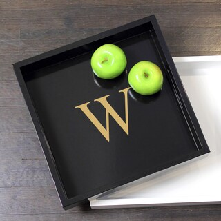 Personalized Black Lacquer Tray