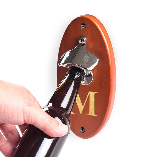 Personalized Amber Wall Mounted Bottle Opener