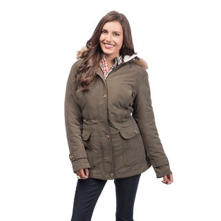 Mackintosh Women's Anorak with Faux Fur Trim Hood