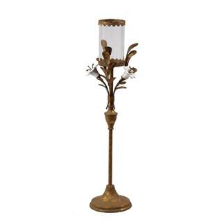 Medium Ceramic Rose Candle Holder